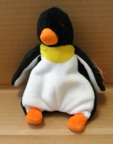 TY Beanie Babies Waddle the Penguin Stuffed Animal Plush Toy - 6 inches tall - Style 4075 by SmartBuy