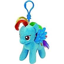 """Ty Beanie Babies My Little Pony 4"""" Key Clip - Rainbow Dash"""