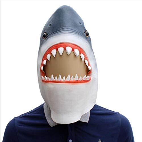 Novelty Funny Halloween Cosplay Costumes Party Latex Animal Head Mask - Shark Head Mask