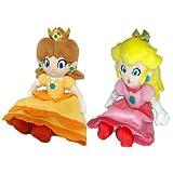 "Super Mario Plush -7"" Princess Peach & Daisy Soft Stuffed Plush Toy Japanese Import by nintendo [Toy]"