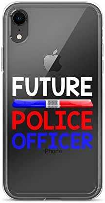 iPhone XR Pure Clear Case Crystal Clear Cases Cover Future Police Officer Cop Kids Children Transparent