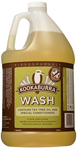 Kookaburra Wash, No Scent, 1 Gallon, Hypoallergenic Pure Plant-Based Laundry Concentrate with Tea Tree Oil, Perfect for Washing Wool, Delicates, and Hand Knits