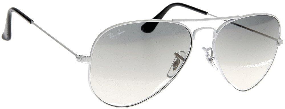 00328e6f23b Amazon.com  Ray-Ban RB3025 Aviator Silver Frame   Crystal Grey Gradient Lens   Clothing