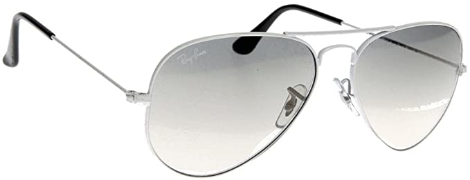 c751d72c559 Amazon.com  Ray-Ban RB3025 Aviator Silver Frame   Crystal Grey ...