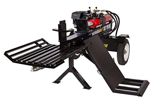 RuggedMade 37-Ton Horizontal Gas Log Splitter, 420cc 15hp Engine Electric Start w/Log Lift & Catcher