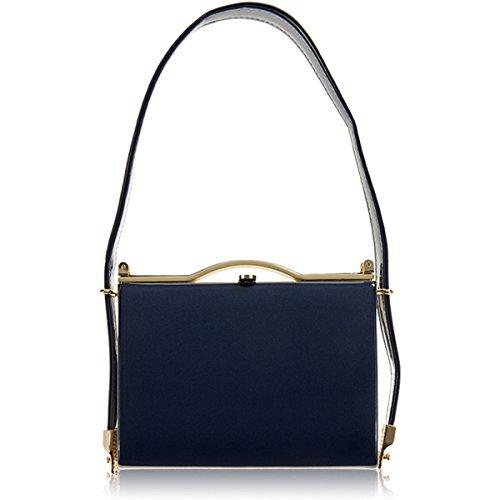 Patent Women Xardi Saddle Shimmer Bags Medium Clutch Handbags Royal Shoulder Ladies Blue London Prom Evening New CqHYwg