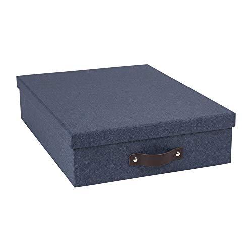 Canvas Boards Box - Bigso Oskar Canvas Letter Storage Box, Blue