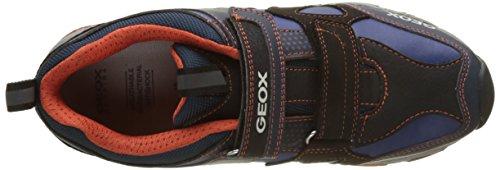 Geox J MAGNETAR B, Zapatillas Para Niños Azul (Navy/orange)