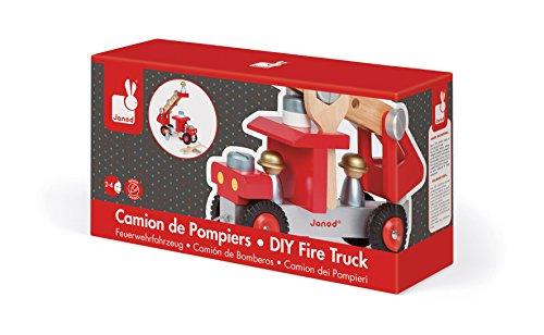 Janod j camion de pompiers bois amazon jeux et jouets