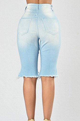 Stretch 1818 Froc Bermudes Ami Haute Femmes Denim Taille Dchirs Jean Shorts Suvimuga qCt6wfPw