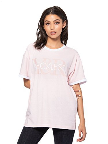 Young and Reckless - Beth Tee - Blush Pink - M - Womens - Tops - Tees - Blush