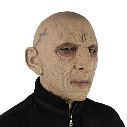 FantasyParty Halloween Novelty Mask Costume Party Latex Human Head Mask Old Man -