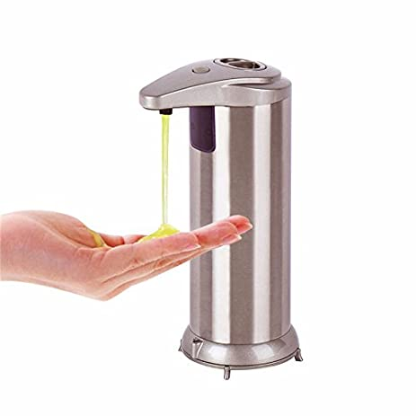 Krois Automatic Soap Dispenser Hand Touchless Stainless Steel Soap Dispenser Perfect  For Bathroom And Kitchen
