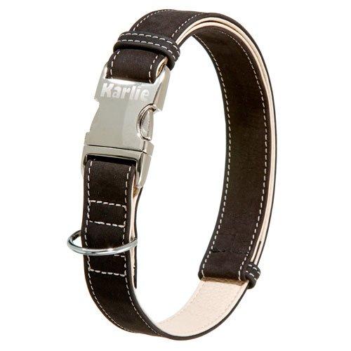 Karlie Buffalo Ultra Dog Collar Black   Light Beige, width   length, 15 mm   30-45 cm Collar for Dogs