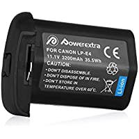 Powerextra Replacement Canon LP-E4 Li-ion Battery for Canon LP-E4N and Canon EOS-1D C, EOS-1D Mark III, EOS-1D Mark IV, EOS-1Ds Mark III, EOS-1Ds Mark IV Digital Camera
