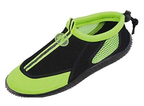 Der Bucht-Frauen Beleg auf athletischen Aqua-Socken-Wasser-Schuhen Grün 2905