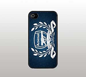 Arsenal Futbol Hard Snap-On Case for iPhone 4 4s - Black - Cool Custom Cover - Soccer Football