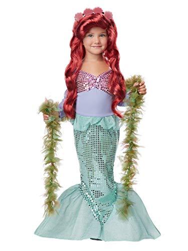 Ariel On Land Halloween Costume (Lil' Mermaid Girl's Costume, Medium,)