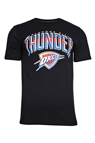 NBA Men's Oklahoma City Thunder T-Shirt Arched Plexi Short Sleeve Tee Shirt, Small, Black Thunder Jersey