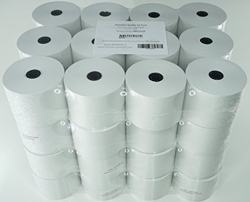 Monroe Systems - (48) Top of The Line Monroe Systems for Business Single-Ply Bond Paper Rolls, 20lb.