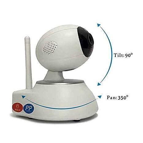 Cámara de Vigilancia P2P,impermeable,Pan/Tilt/Zoom,Instalar Fácil,wifi Cámara IP Plug&Play,visión de ángulo grande,con visualización remota del detector de ...