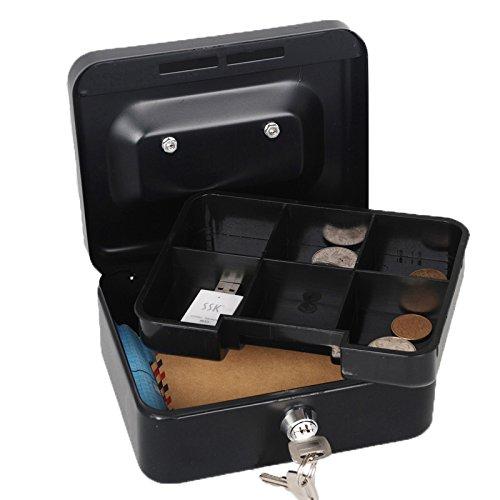 Mini Portable Steel Petty Lock Cash Safe Box Lockable Coin Security Box
