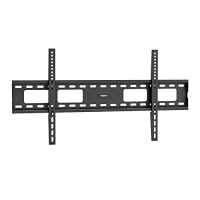 "ViiRO Premium Fixed Wall Mount Bracket Heavy Duty Universal Design Which Suits Samsung, Sony, Vizio, LG, Panasonic, LCD, LED Or Plasma Flat Screen or Curved TVs Sizes 37"" To 70"" (37 Inch - 70 Inch)- Max VESA 800x400 mm, 165 lbs Capacity, Built-in Bubble L"