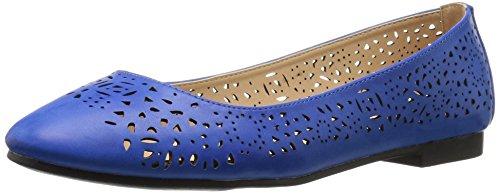 Calf Wide Esteppe Navy Shoes Women's Annie Flat Itwq7Up