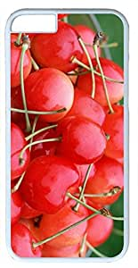 Red Delicious Cherry Fruit Customized Hard Shell White iphone 6 plus Case By Custom Service Your Perfect Choice