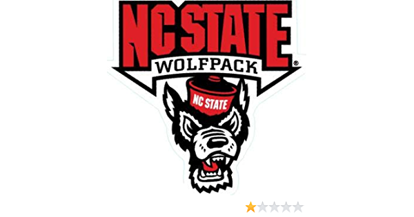 4 Inch North Carolina NC State University Wolfpack NCSU Logo Removable Wall Decal Sticker Art NCAA Home Room Decor 4 by 4 Inches