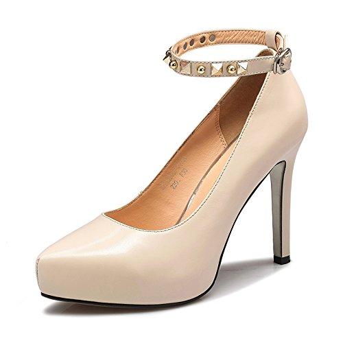 de femeninos High Correa Heeled de blanco impermeables Zapatos Zapatos M singles Aemember 38 a luz la Mujer Taiwán los dfcRHfqZW