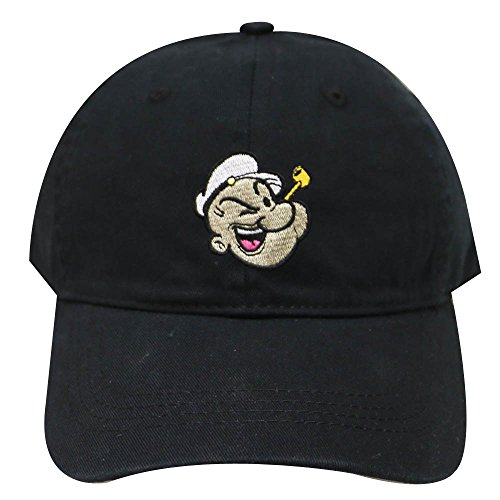City Hunter Pe100 Popeye Face Cotton Baseball Caps - Multi Colors (Black) (Popeye Sailor Hat)