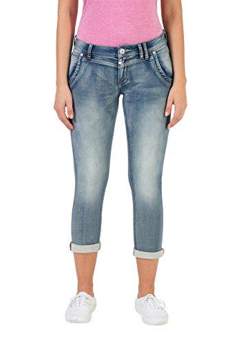Timezone Slim NALI, Pantalones para Mujer Azul (Aqua Blue Wash 3039)