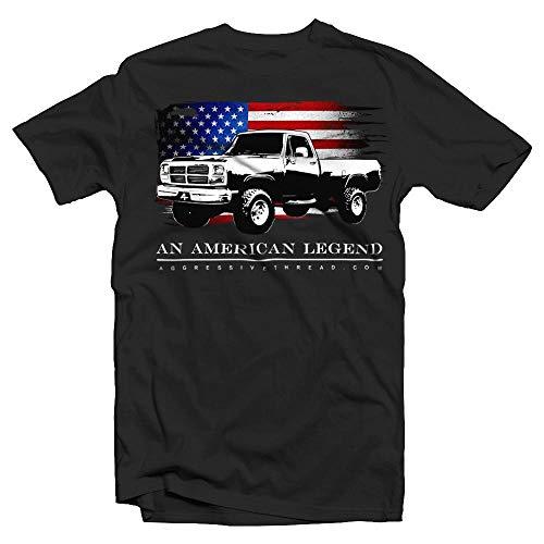 1981-1993 First Gen Dodge Ram American Flag T-Shirt Black
