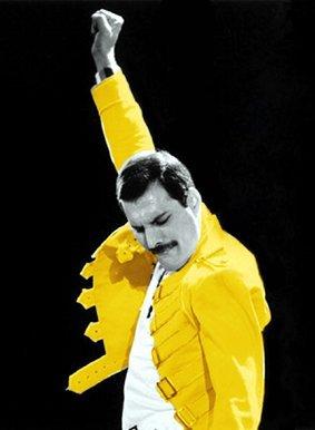 imagenation Queen - Freddie Mercury chaqueta amarilla ...