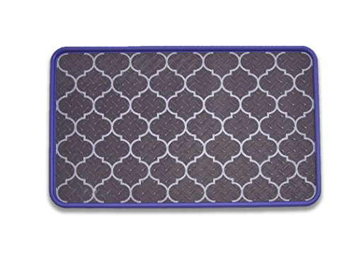 Resilia - Lavender/Lattice Floor Mat for Dog Bowls, Cat Litt