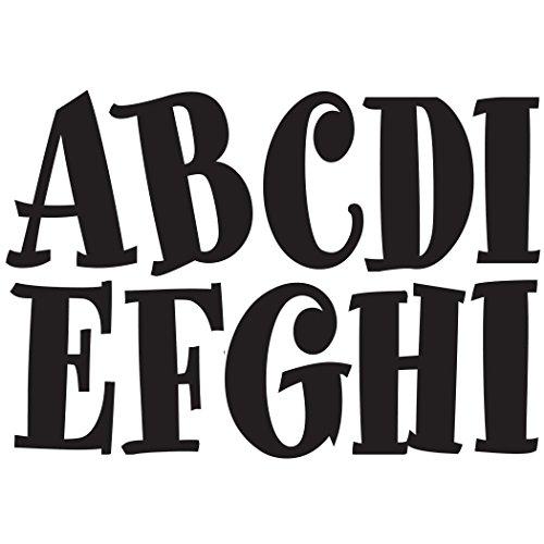 Designer Numbers - Ashley Productions Spumoni Designer Magnetic Uppercase Letters (57 Piece), Black
