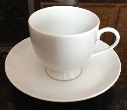 Mikasa Classic Flair White K1991 Cup and Saucer Set Classic Flair White Cup