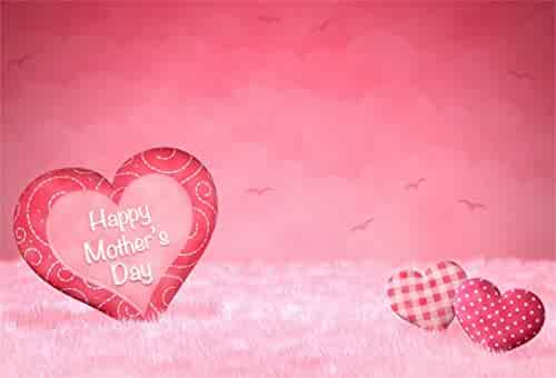 Aofoto 8x6ft Happy Mothers Day Background Sweet Love Heart Ornament On Soft Carpert Photography Backdrop New