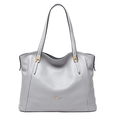 Grey Leather Handbags - 6