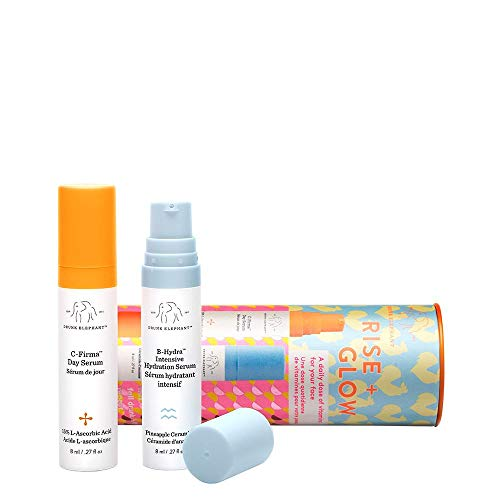 (Drunk Elephant Rise + Glow Duo - Morning Skin Care Set. C-Firma Day Serum and B-Hydra Intensive Hydration Serum with Vitamin B5 (8 ml each))