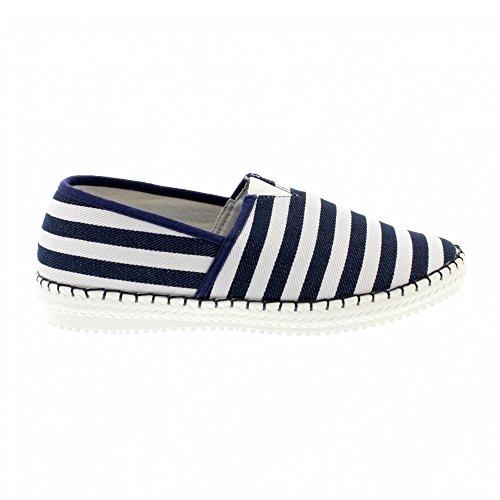 Feet Navy Heavenly Womens Heavenly Stripe Pontoon Navy Textile Shoes Womens Feet Textile Pontoon Stripe BqzUqXA