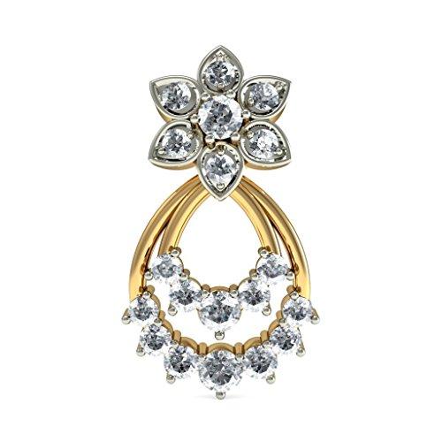 14K Or jaune 0,69ct tw White-diamond (IJ   SI) Boucles d'oreille à tige
