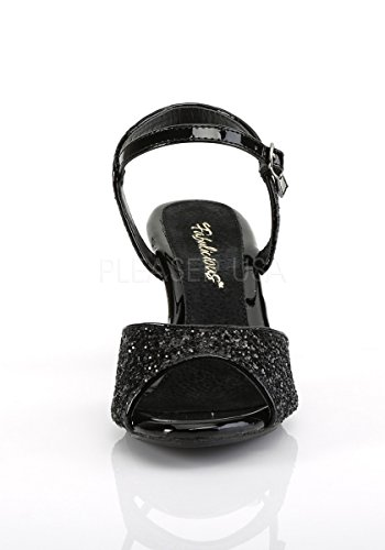 Fabulicious BELLE-309G Black Glitter/Black Glitter AAJecl