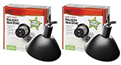 (2 Pack) Zilla Reptile Habitat Lighting, Terrarium Heat Lamp Halogen Mini Dome