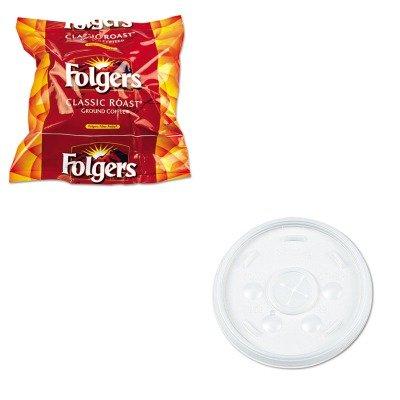 KITDRC16SLFOL06114 - Value Kit - Dart Plastic Lids (DRC16SL) and Folgers Regular Coffee Filter Pack, .9 Ounce (FOL06114) by Dart
