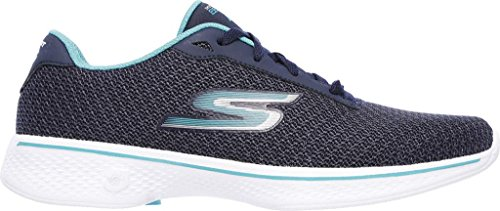 Skechers Performance Damen Go Walk 4 Lace-Up Wanderschuhe Marine Teal