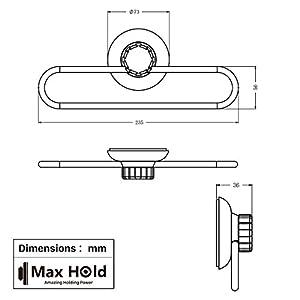 MaxHold Bathroom Suction Shower Basket