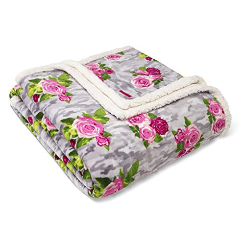 - Betsey Johnson Camouflage Floral Blanket King Pink