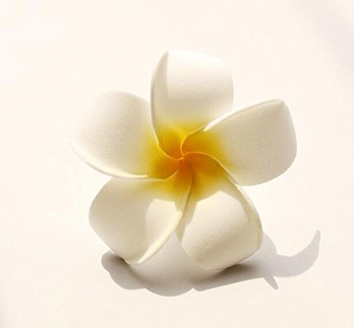 SallyFashion Foam Artificial Plumeria Rubra Flower Heads Frangipani Wedding Decoration Flowers Plumeria Flower Head/Hawaiian Plumeria Foam Flower (2.7